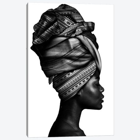 African Woman In Black And White Canvas Print #DLX177} by Danilo de Alexandria Canvas Print