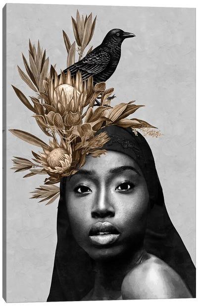 Bird Black Canvas Art Print