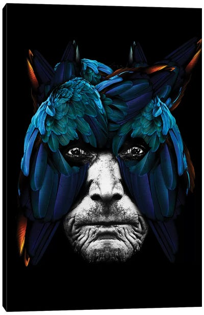 Bird Man Arara Canvas Art Print