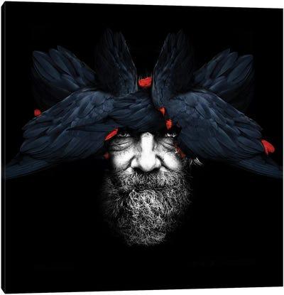 Bird Man   Square Canvas Art Print