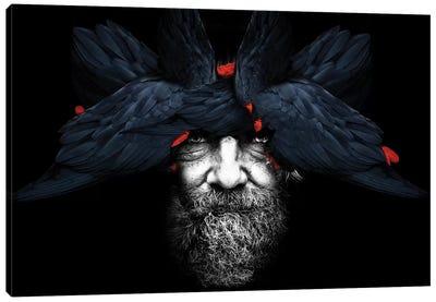 Bird Man Canvas Art Print