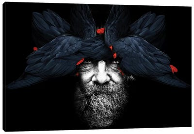 Bird Man Canvas Art Print