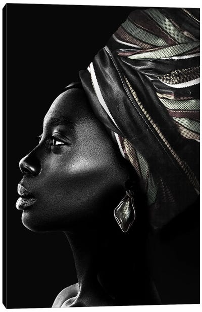 African Luxury In Black And White Canvas Art Print
