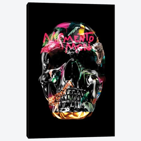 Memento Mori | Skulls Black 3-Piece Canvas #DLX188} by Danilo de Alexandria Canvas Art Print