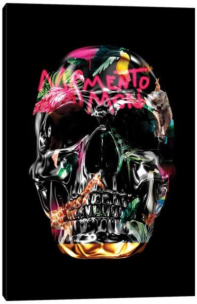 Memento Mori   Skulls Black Canvas Art Print