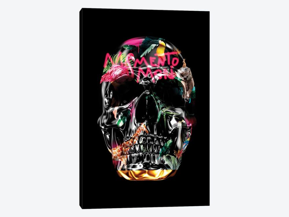 Memento Mori   Skulls Black by Danilo de Alexandria 1-piece Canvas Art Print