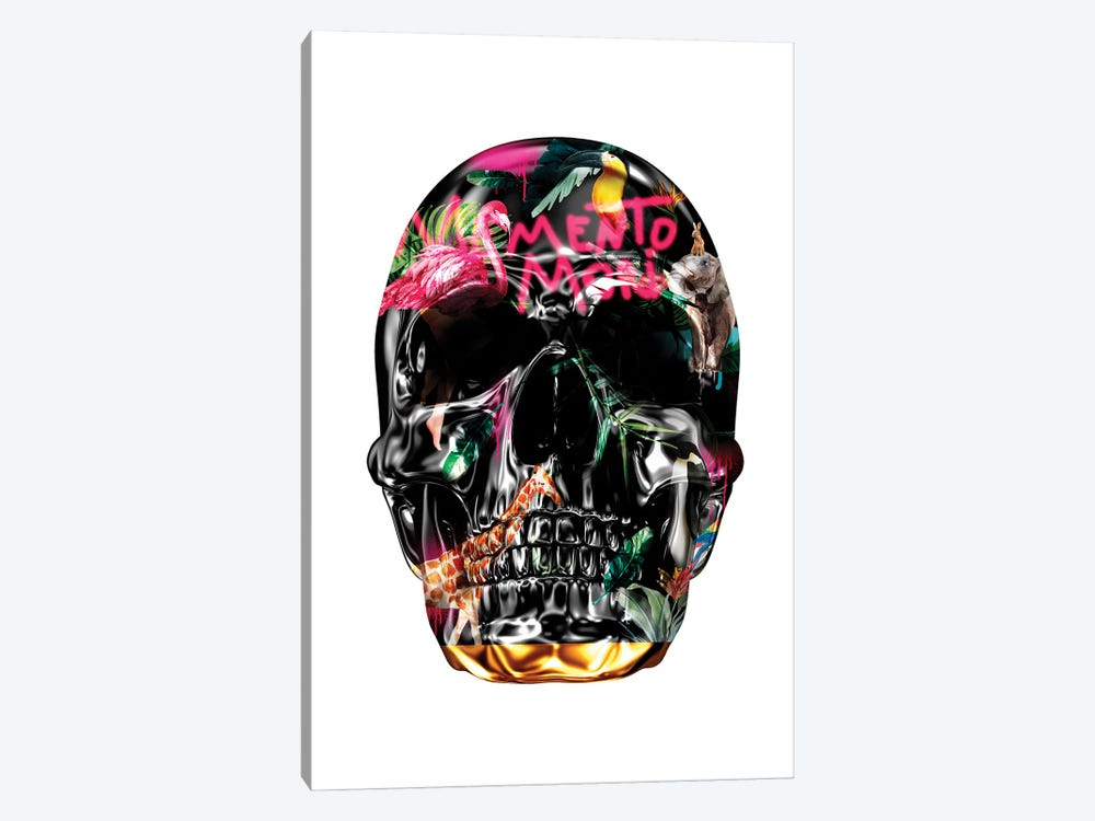 Memento Mori | Skulls White by Danilo de Alexandria 1-piece Canvas Wall Art