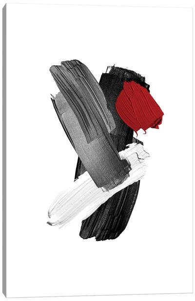 Red   Brush II Canvas Art Print