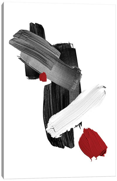 Red   Brush I Canvas Art Print
