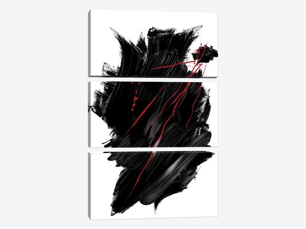 Red | Ink II by Danilo de Alexandria 3-piece Canvas Artwork