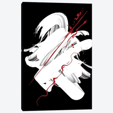 Red | Ink III Canvas Print #DLX199} by Danilo de Alexandria Canvas Wall Art