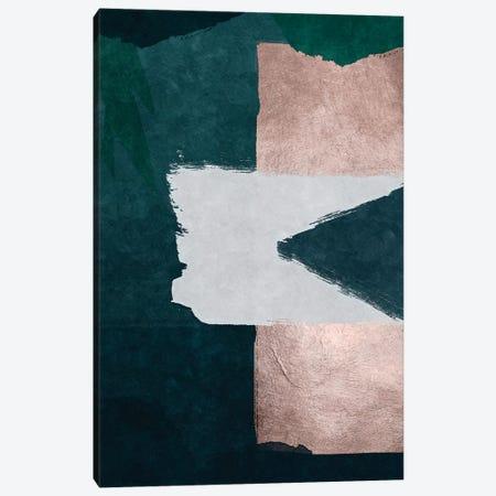 Brush Diptych Green A Canvas Print #DLX19} by Danilo de Alexandria Canvas Artwork