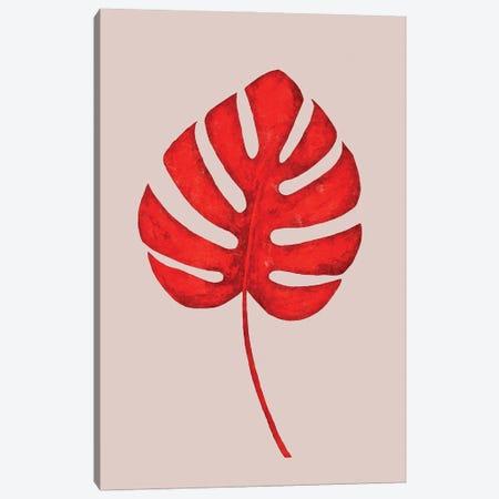 Red | Leaf I Canvas Print #DLX205} by Danilo de Alexandria Canvas Print