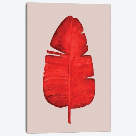 Red | Leaf II Canvas Print #DLX206} by Danilo de Alexandria Canvas Art Print