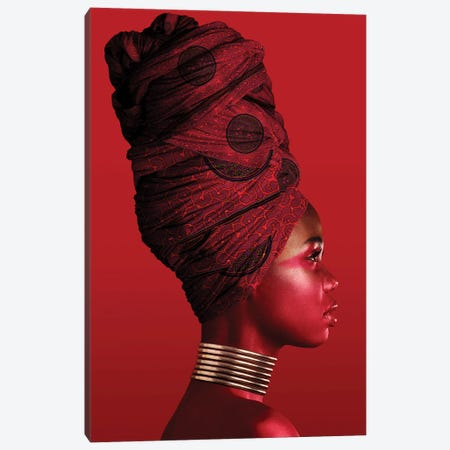 Red | African Women I Canvas Print #DLX207} by Danilo de Alexandria Art Print