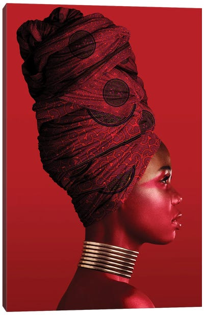Red   African Women I Canvas Art Print