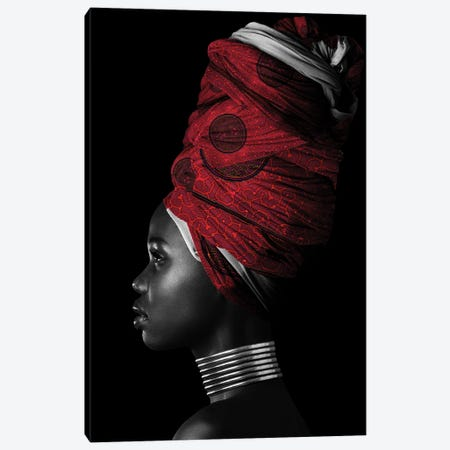 Red | African Women II Canvas Print #DLX208} by Danilo de Alexandria Canvas Artwork