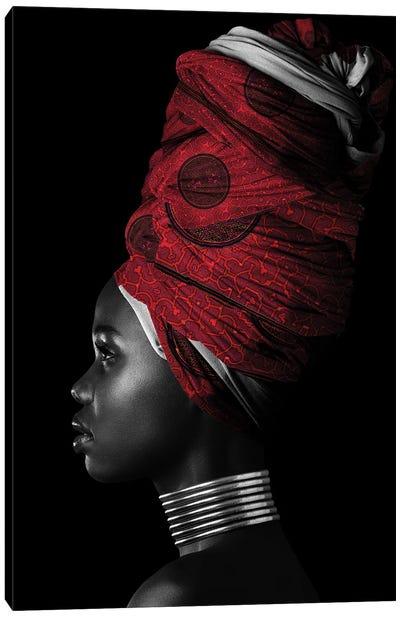 Red   African Women II Canvas Art Print