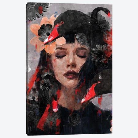 Red | Swan I Canvas Print #DLX209} by Danilo de Alexandria Canvas Wall Art