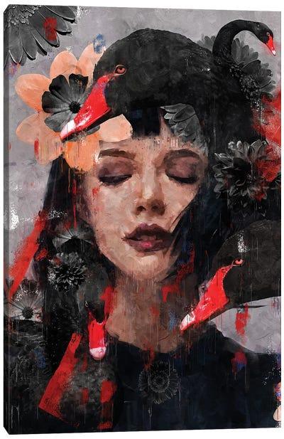 Red | Swan I Canvas Art Print