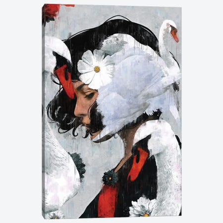 Red | Swan II Canvas Print #DLX210} by Danilo de Alexandria Canvas Print