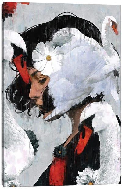Red   Swan II Canvas Art Print