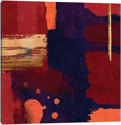 Brush Diptych Red I Canvas Art Print