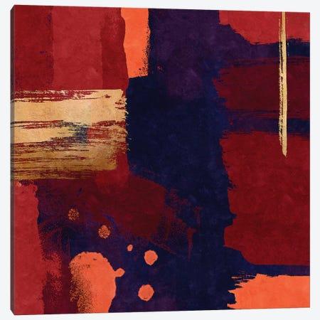 Brush Diptych Red I Canvas Print #DLX25} by Danilo de Alexandria Canvas Artwork