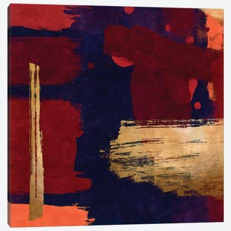 Brush Diptych Red II Canvas Print #DLX26} by Danilo de Alexandria Canvas Artwork
