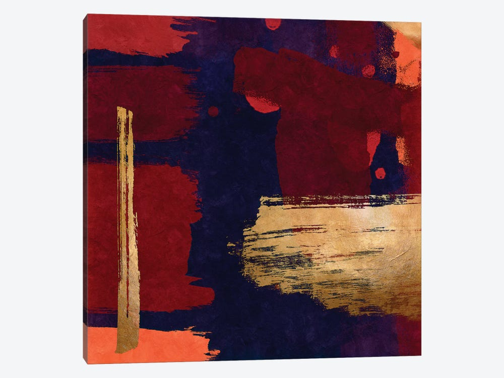 Brush Diptych Red II by Danilo de Alexandria 1-piece Canvas Art