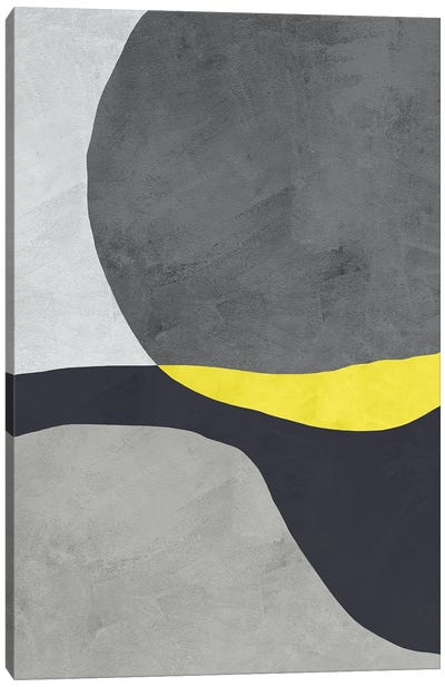 Yellow And Grey III Canvas Art Print