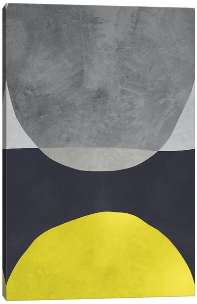 Yellow And Grey VI Canvas Art Print