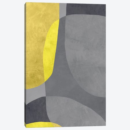 Yellow And Grey VII Canvas Print #DLX287} by Danilo de Alexandria Canvas Print