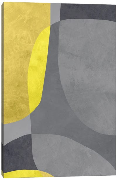 Yellow And Grey VII Canvas Art Print
