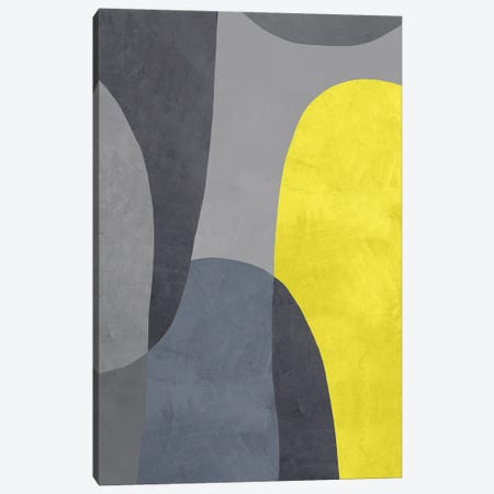 Yellow And Grey IX Canvas Print #DLX289} by Danilo de Alexandria Canvas Artwork