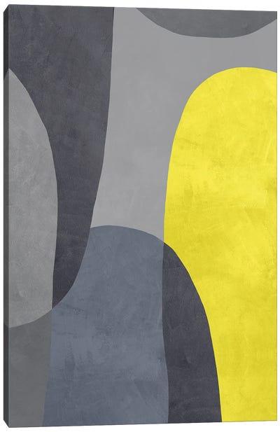 Yellow And Grey IX Canvas Art Print