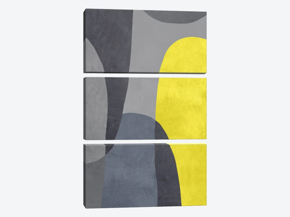 Yellow And Grey IX by Danilo de Alexandria 3-piece Canvas Wall Art