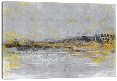 Yellow And Grey X Canvas Art Print