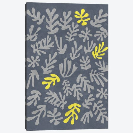 Yellow And Grey XI Canvas Print #DLX291} by Danilo de Alexandria Art Print