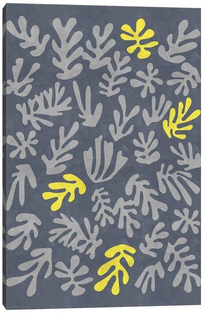 Yellow And Grey XI Canvas Art Print