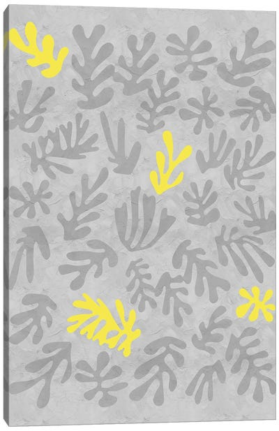 Yellow And Grey XII Canvas Art Print