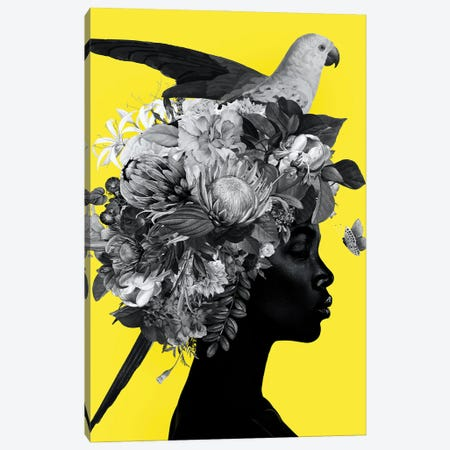Yellow And Grey XVI Canvas Print #DLX296} by Danilo de Alexandria Canvas Artwork