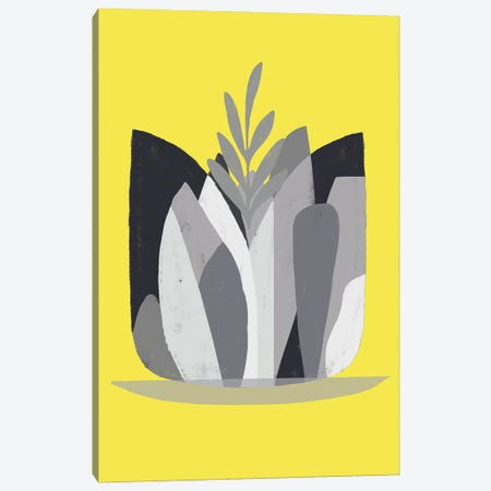 Yellow And Grey XVII Canvas Print #DLX297} by Danilo de Alexandria Canvas Artwork