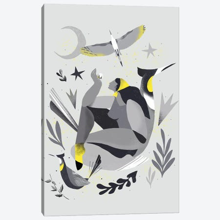 Yellow And Grey XVIII Canvas Print #DLX298} by Danilo de Alexandria Art Print