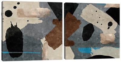 Brush Diptych Canvas Art Print
