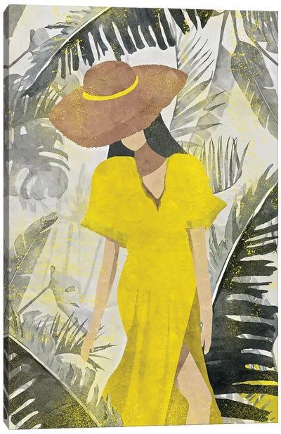 Yellow And Grey XXII Canvas Art Print