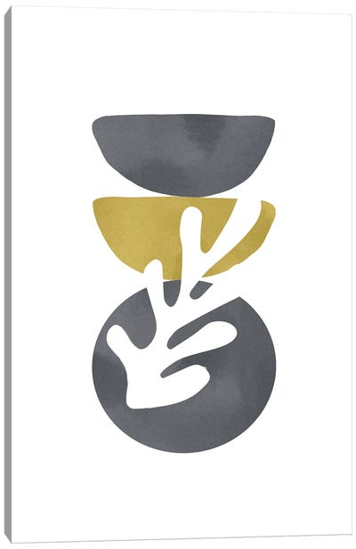 Yellow And Grey XXVII Canvas Art Print