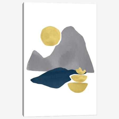Yellow And Grey XXX Canvas Print #DLX310} by Danilo de Alexandria Canvas Art