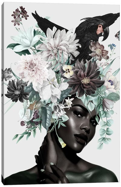 Woman And Flowers I Canvas Art Print