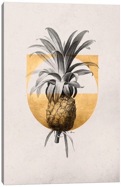 Golden Tropical I Canvas Art Print